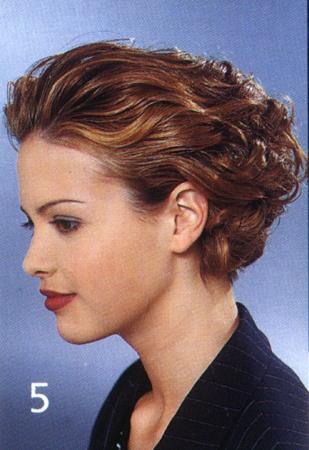 Прическа с гелем для волос женский